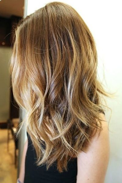 wavy hair with highlights