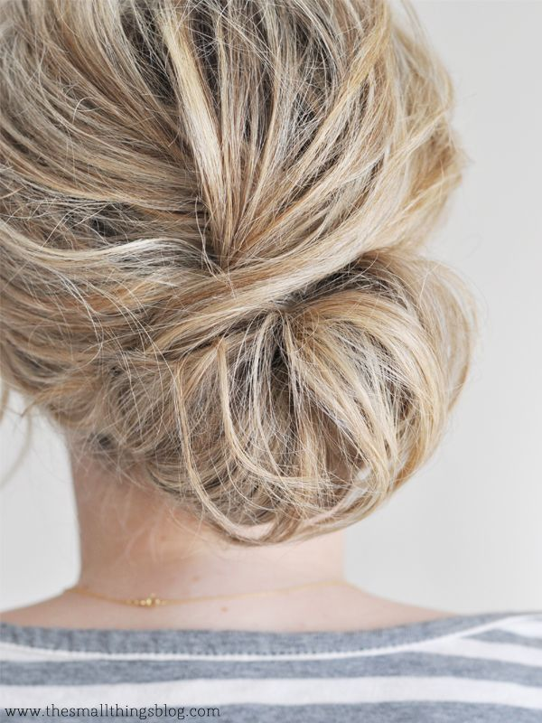 What's more classic than a low chignon? Click on the photo for the video tutor...