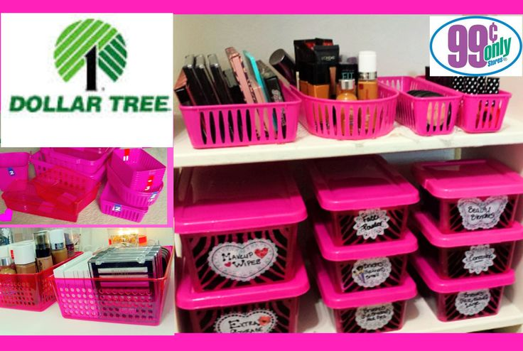 $1 Makeup Organization & Storage Ideas   Dollar Tree & 99 Cents Only