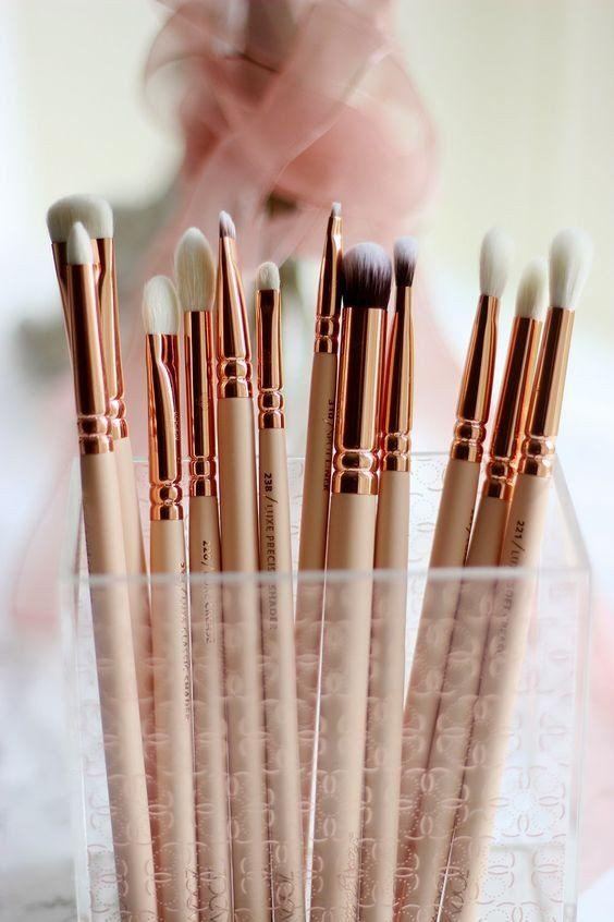 12pcs/set Zoeva rose golden complete eye set precision eyes makeup brushes set w...