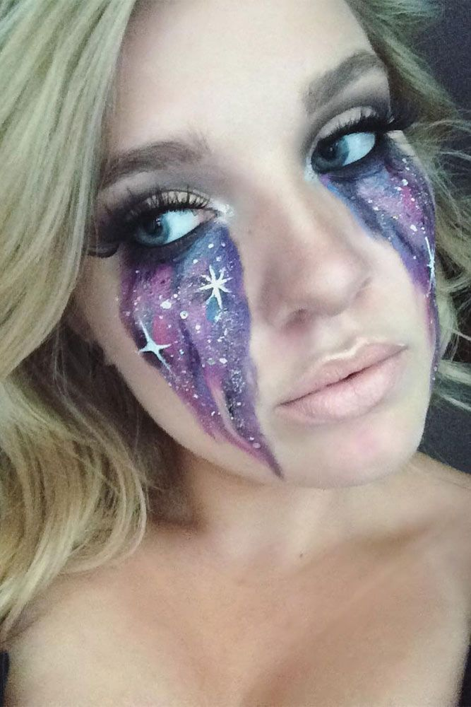 21 Galaxy Makeup Looks - Creative Makeup Ideas for Extraordinary Girls ★ See m...