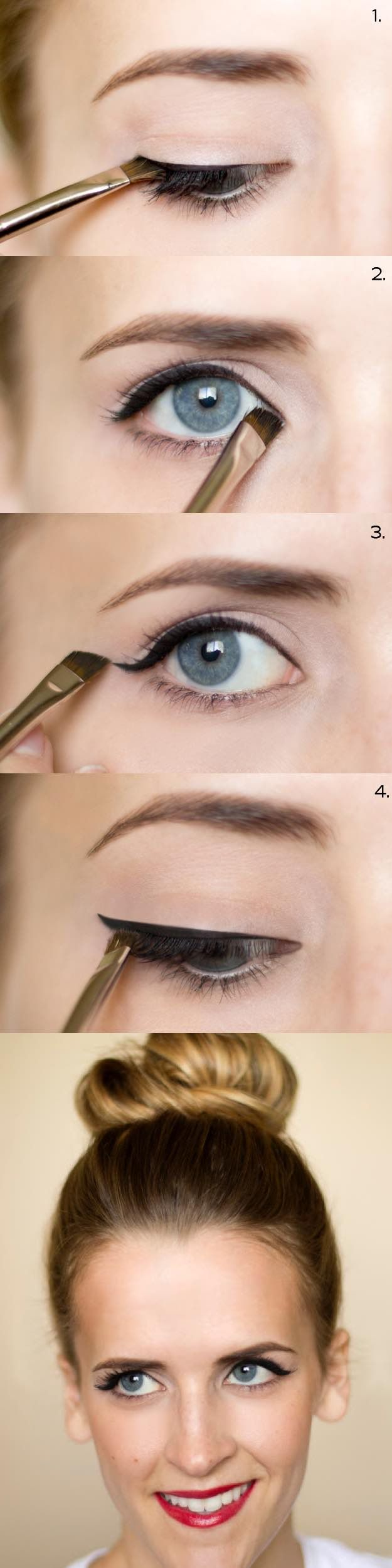 25 Must Know Eyeliner Hacks -How To: Cat Eyeliner -Winged Looks and Easy Makeup ...