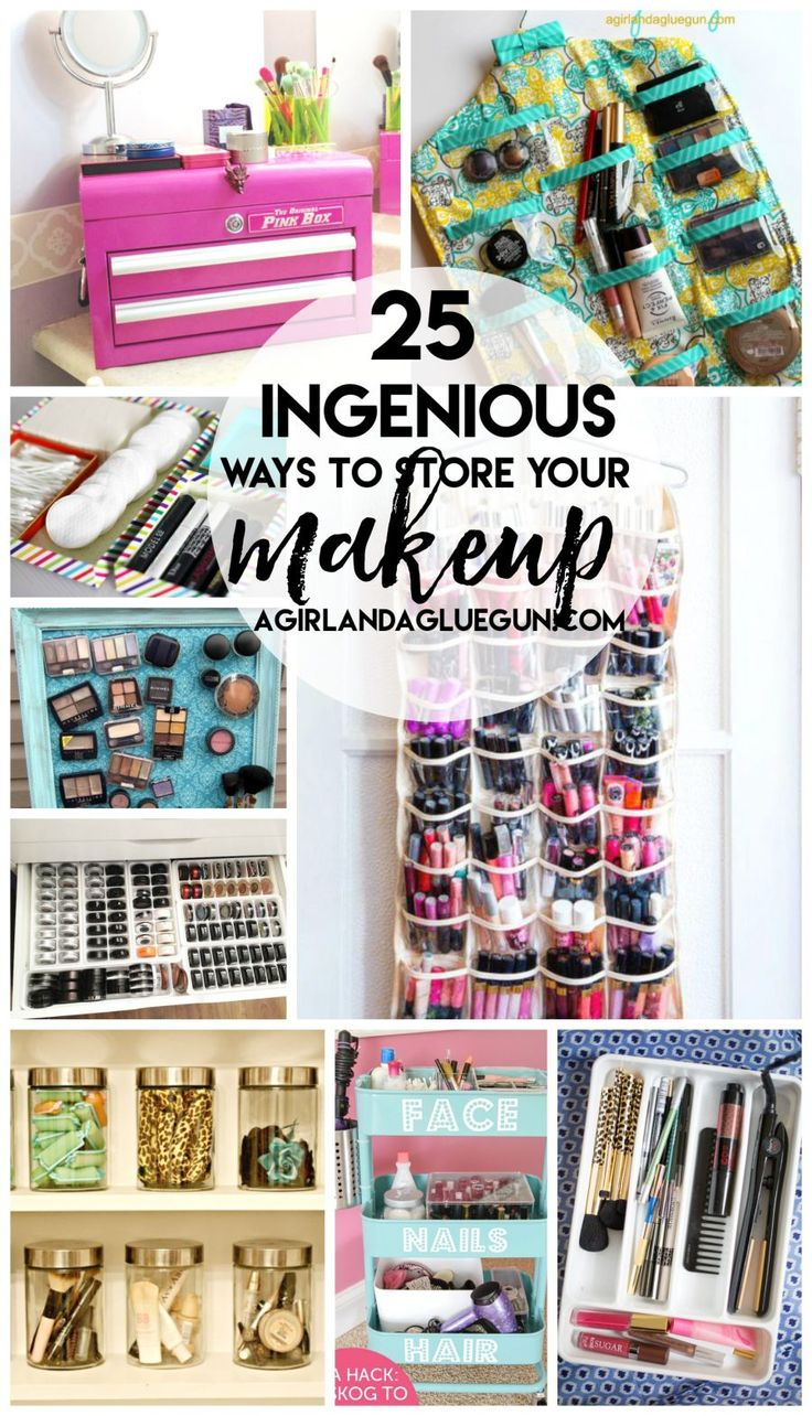 25 Ways to Store Your Makeup