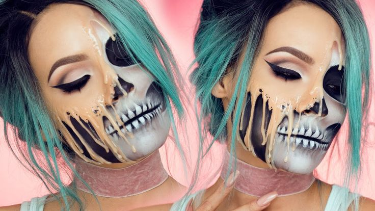 A Gruesome Halloween Makeup Tutorial That Makes It Look Like Your Face Melting O...
