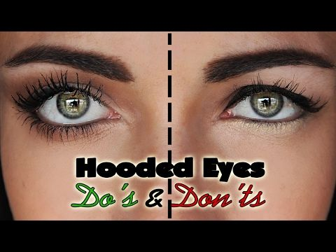 A makeup tutorial on the things you want to avoid with downturned, droopy hooded...