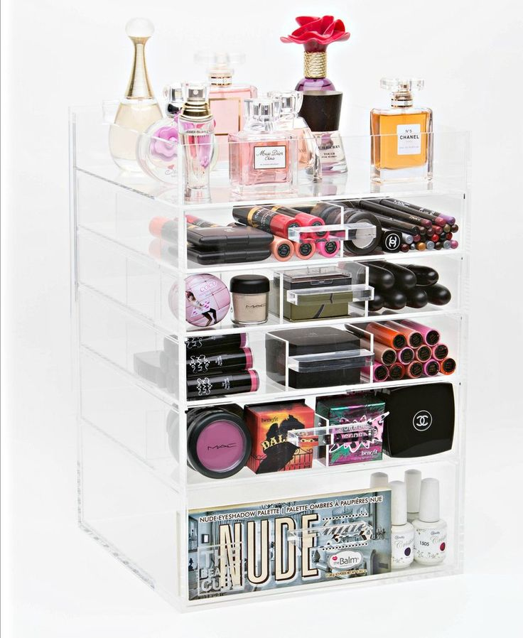 Acrylic Makeup Organizer 6 Tier Tall – The Makeup Organizer