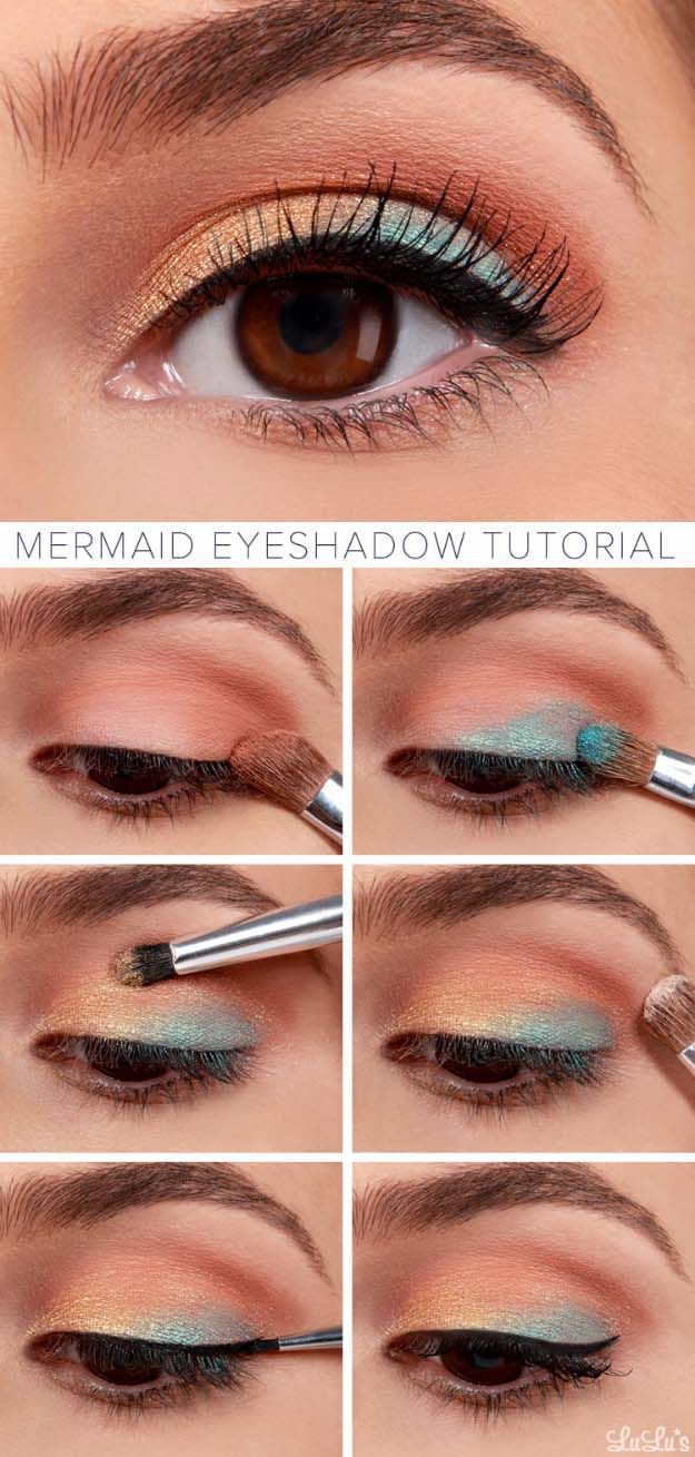 Awesome Makeup Tutorials for Summer - BEAUTY–Lulus How-To Mermaid Eyeshadow Ma...