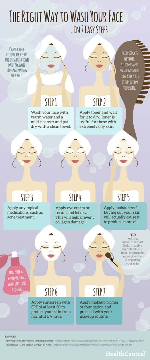 Best Beauty Hacks - The Right Way to Wash Your Face - Easy Makeup Tutorials and ...