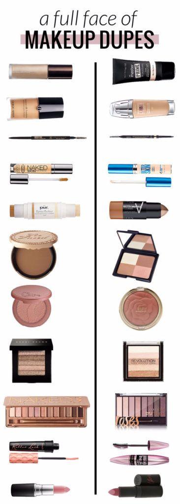 Best Drugstore Makeup Dupes- A FULL FACE OF MAKEUP DUPES – HALF HIGH END HALF ...