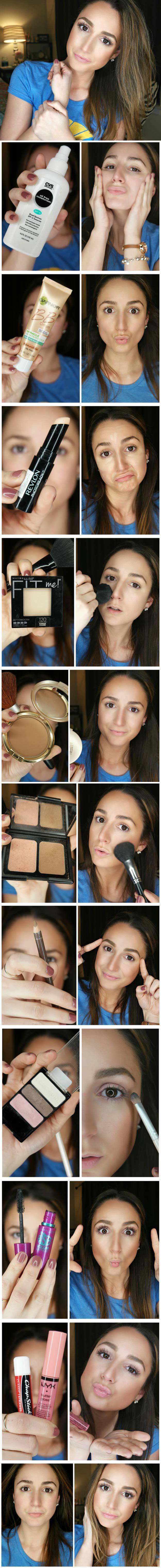 Best Makeup Tutorials for Teens -5 Minute Everyday Makeup Routine - Easy Makeup ...