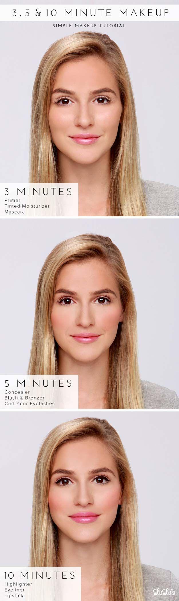 Best Makeup Tutorials for Teens -How-To: 3, 5 & 10 Minute Makeup Tutorial - Easy...