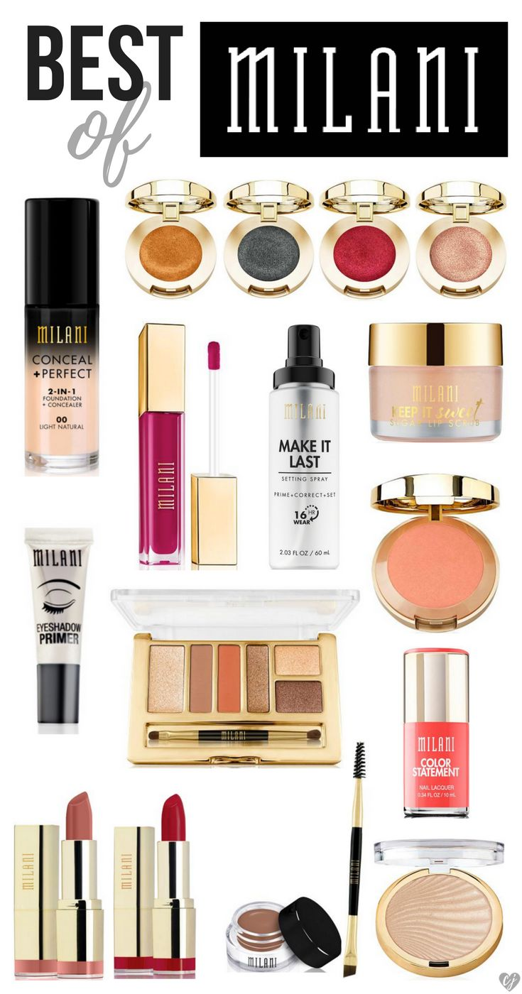 Best Of Milani Makeup Products