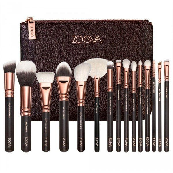 COMPLETE 15 PCS ROSE GOLD MAKEUP BRUSH SET Professional Luxury Set Make Up Tools...