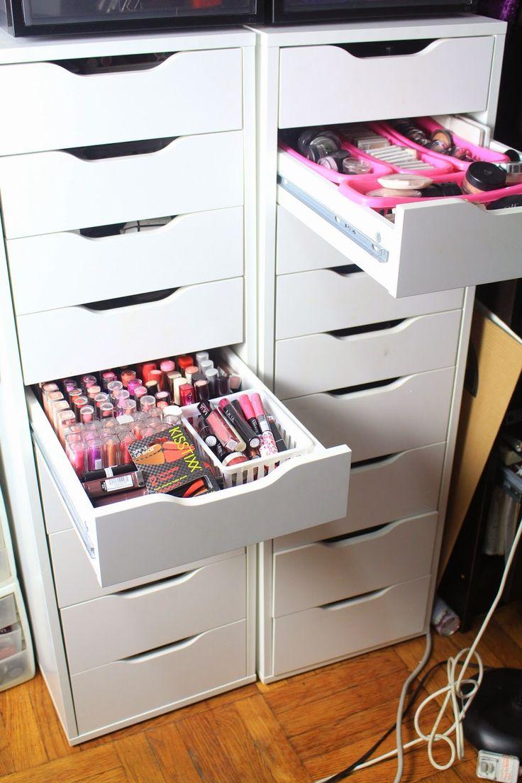 Diva Makeup Queen: DIY IKEA Alex Drawers for Makeup Collection & Storage