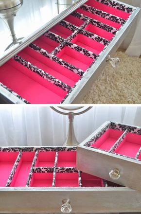 DIY Drawer Organizers | 18 DIY Makeup Storage Ideas | Easy Organization Ideas fo...