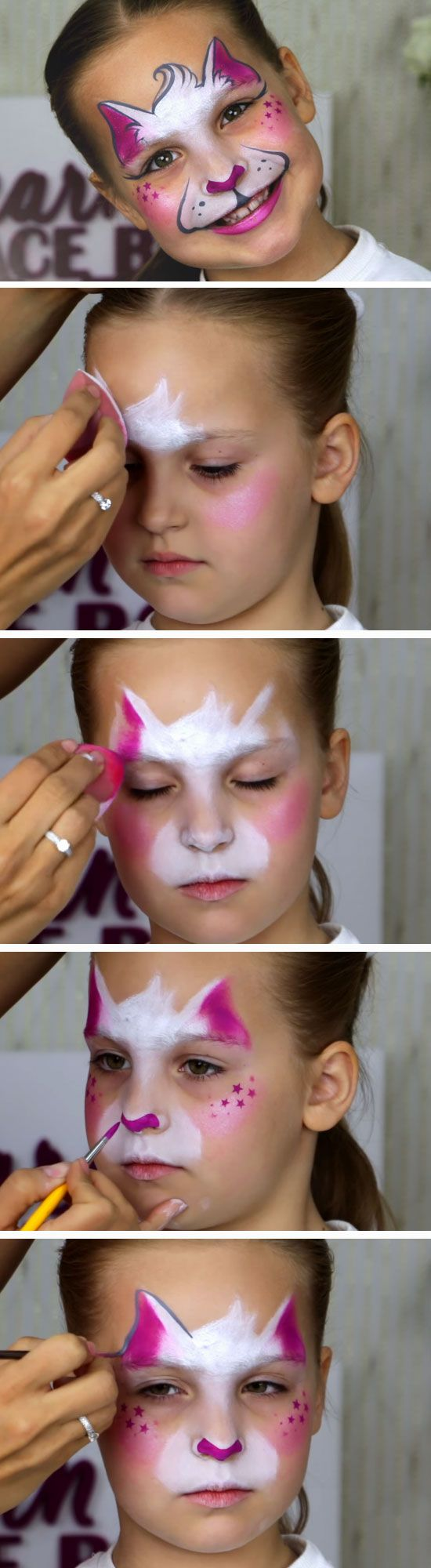 Easy Kitty-Cat | DIY Face Painting Ideas for Kids | Easy Halloween Makeup Ideas ...