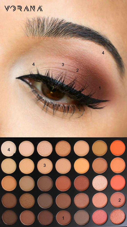 Estas sombras quedarán perfecto con los ojos tonos café. ¿Qué esperas para p...