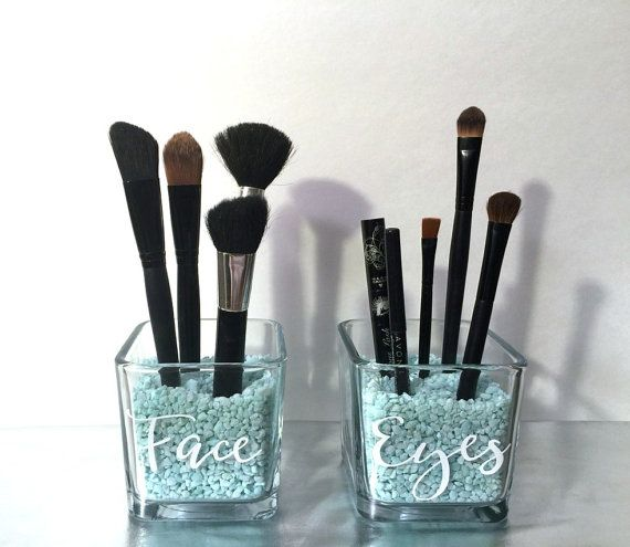 Face and Eyes Makeup Brush Holder  Makeup by HighlandDesignCo
