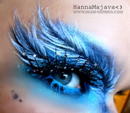 Feather Eye Makeup Tutorial - Glam Express I will never have a reason to do this...