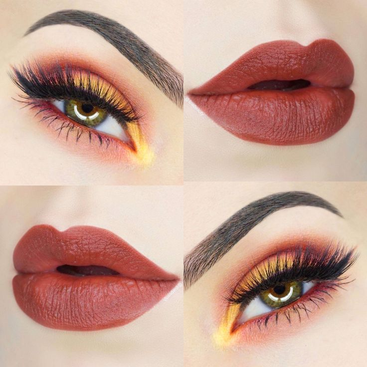 Get this gorgeous eyeshadow and lipstick look! This is a look beautiful on all e...