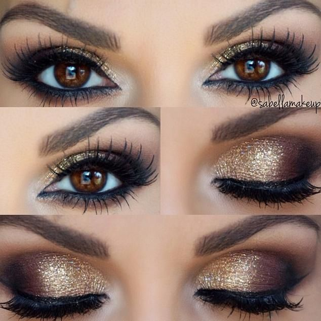 Makeup Ideas 2017 2018 Gold Smokey Eye A Little Too Much Make Up