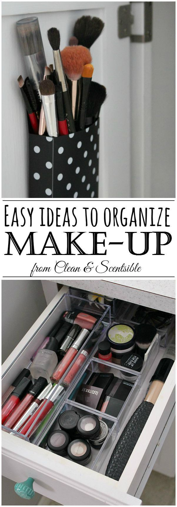 Great ideas for organizing your make-up and a list for when to toss that old mak...