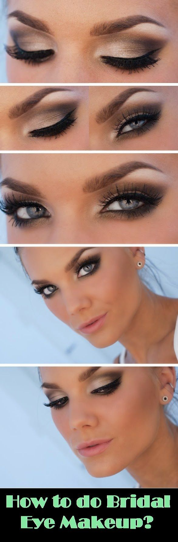 How to do bridal eye makeup ? Please visit our website @ rainbowloomsale.com...