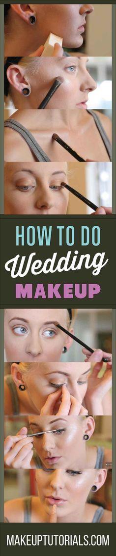 How To Do Cool Wedding Makeup Tutorials   Beautiful Wedding Makeup Ideas By Make...