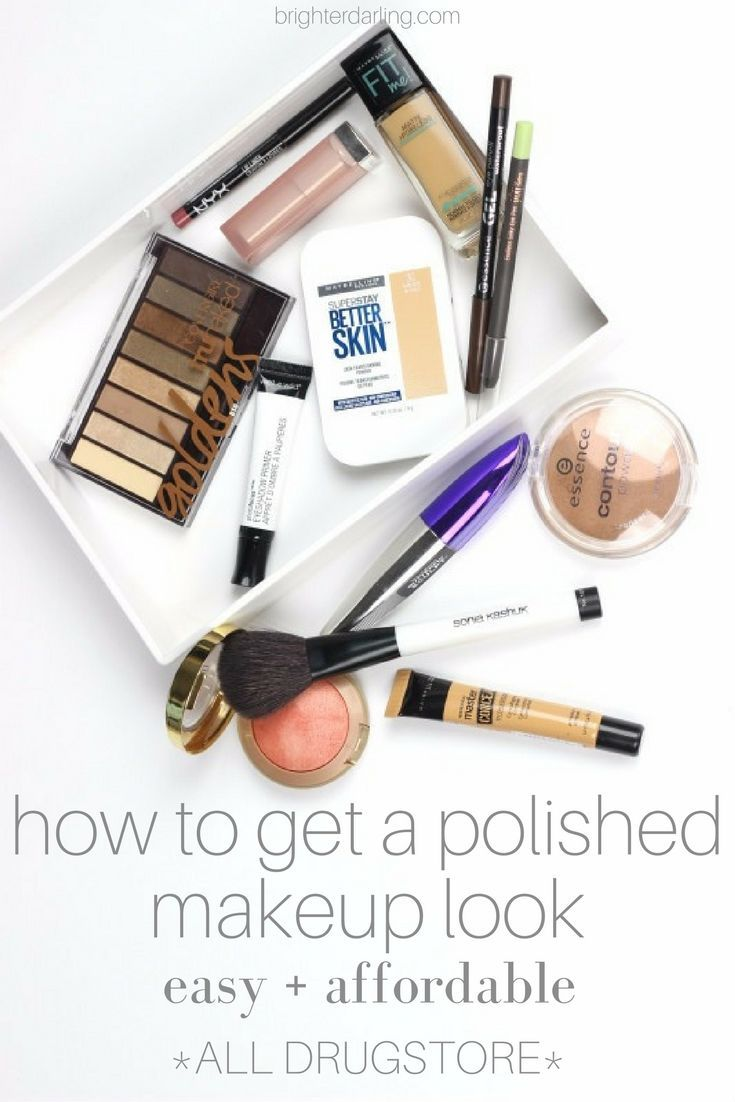 How To Get A Polished Makeup Look Easy and Affordable   All Drugstore Products  ...