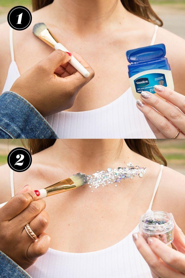 How to Wear Body Glitter — Tricks for Applying Glitter Makeup...