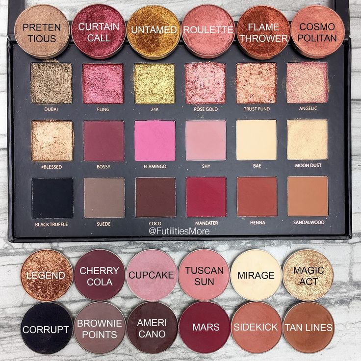 Huda Beauty Rose gold Textures shadows palette dupes with Makeup Geek eyeshadows...