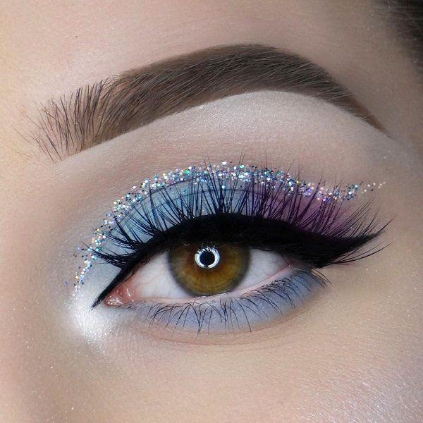 Id there isn't this sequined line above the eyelid makeup this makeup would co...
