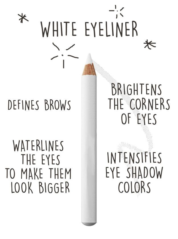 If you only want one thing that'll upgrade your makeup, invest in white eyel...