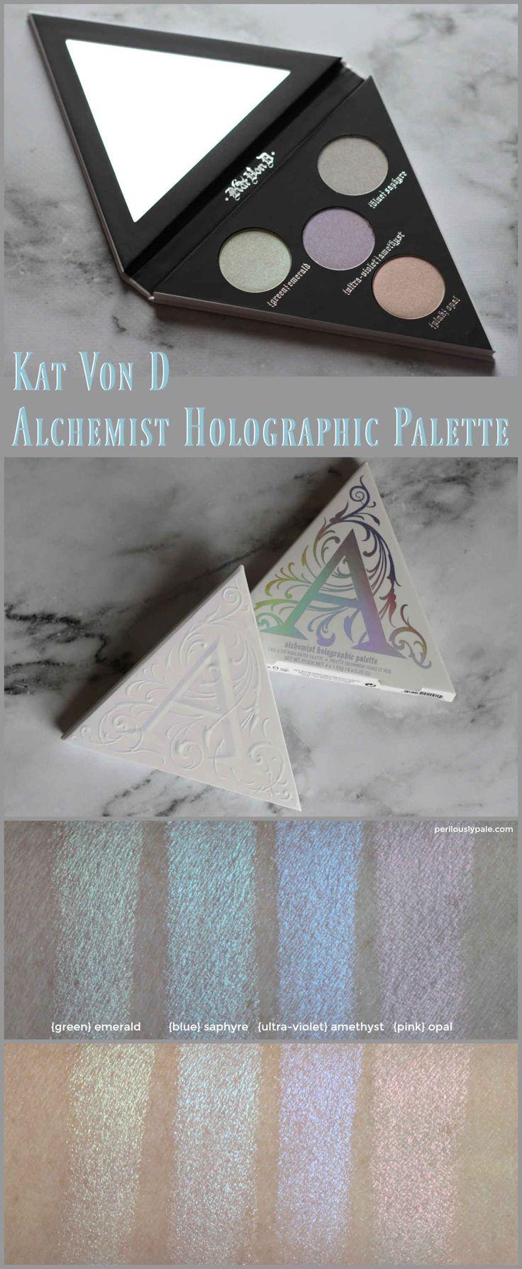 Kat Von D Alchemist Holographic Palette Review & Swatches...