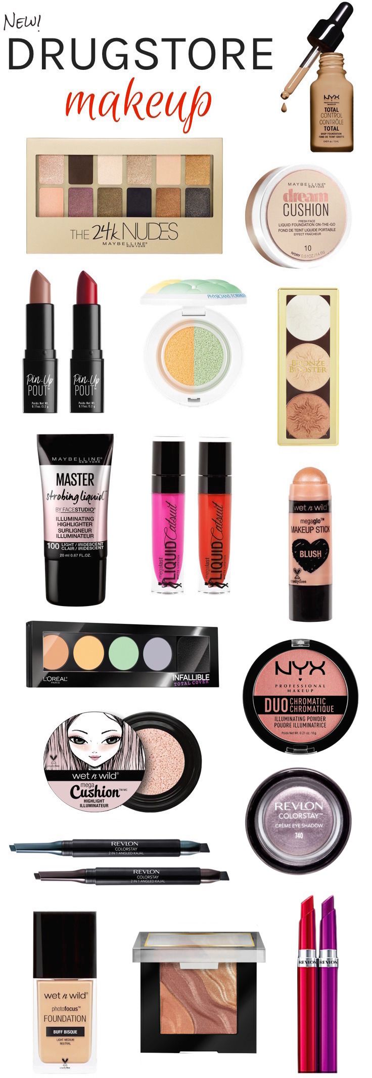 Kick off the new year with these exciting new drugstore makeup must-haves for 20...