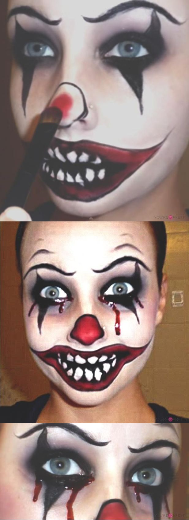 Killer Clown Makeup Tutorial | If you're looking for something a little more cre...