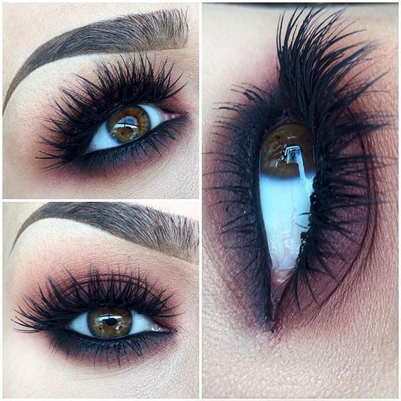Long, Thick Eyelashes - makeup ideas for brown eyes