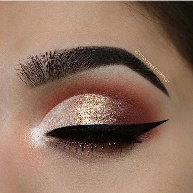 Loving the peachy look!  Create an ombré effect using our Bronze Sprinkles Glit...