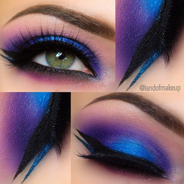 Magnificent Blues and Purples ❤'d by makeupartistrycai... To have radian eyes ...