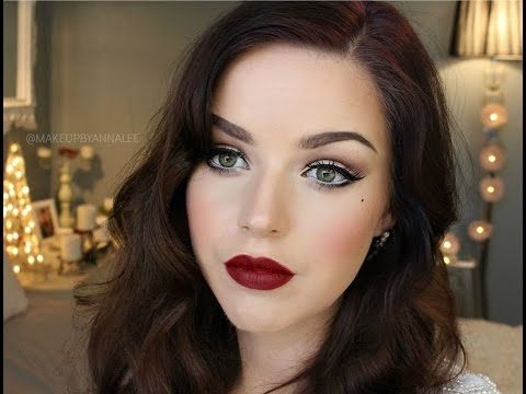 Makeup By Annalee    Old Hollywood 'Glamour' Makeup Tutorial - YouTube L...