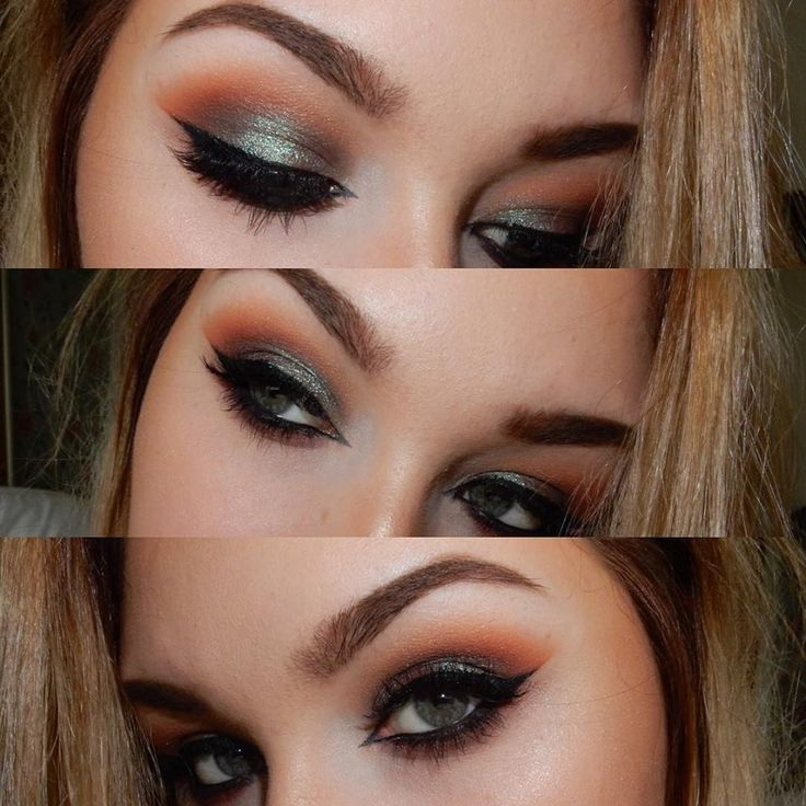 Makeup Geek Duochrome Eyeshadow in Typhoon + Makeup Geek Eyeshadow in Chickadee,...
