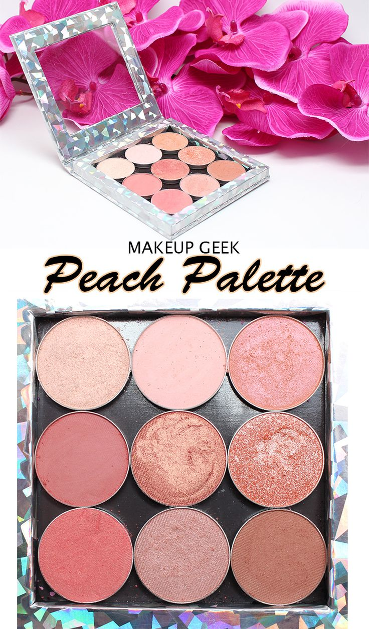 Makeup Geek Peach Palette. Looking for a true peach eyeshadow palette? This is t...
