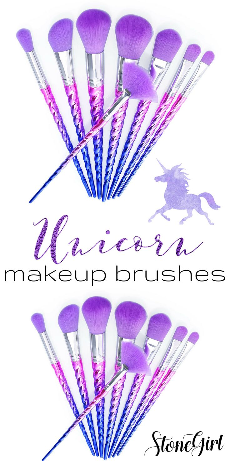 OMG! These unicorn makeup brushes are soooo pretty! I need these!