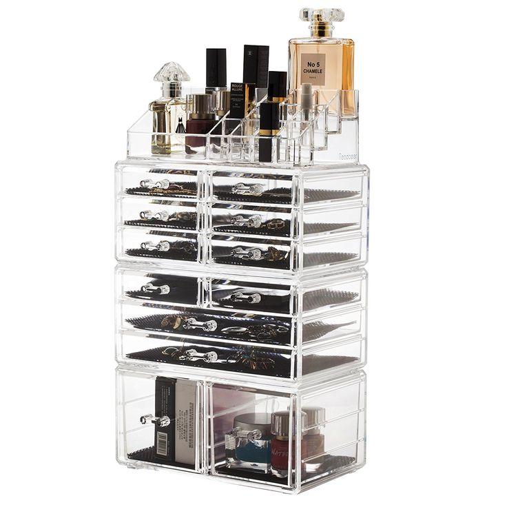 Readaeer Acrylic Makeup Cosmetic Organizer Storage Drawers Display Boxes Case (C...