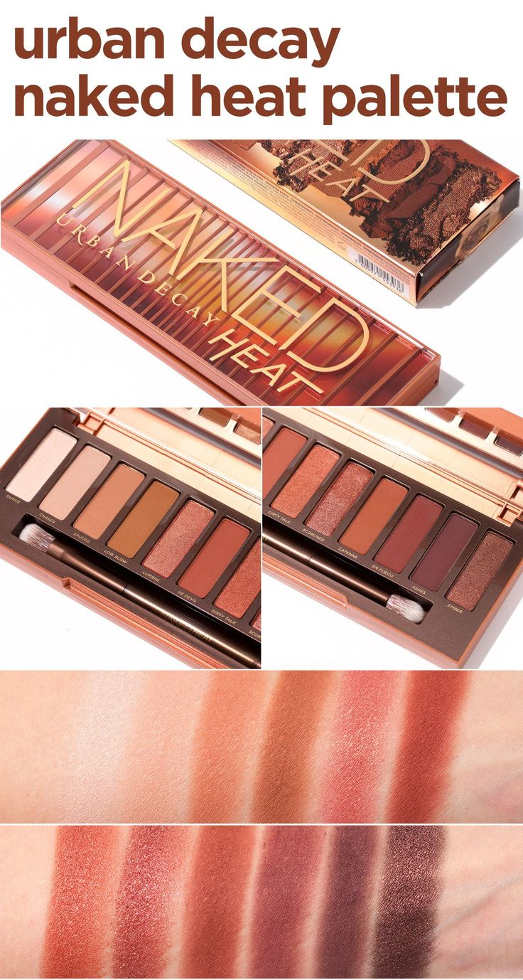 Review of the NEW Urban Decay Naked Heat Palette! - 12 brand new amber-hued neut...