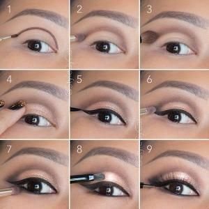 Soft, rose gold, smokey eye tutorial. Good for hooded eyelids or monolids on Asi...