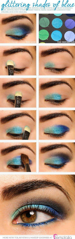 Sparkling Peacock Eye Makeup Tutorial | Gorgeous & Easy Eye Makeup Tutorials For...