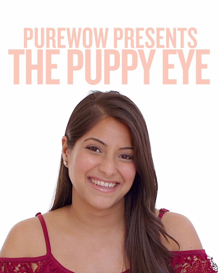 Step aside, kitten eye—there's a new adorable look in town. Puppy-eye makeup...