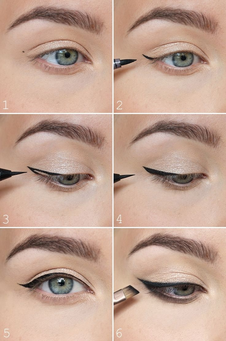 The most easiest way to do a winged eyeliner ♥ - NUDE | Lily.fi