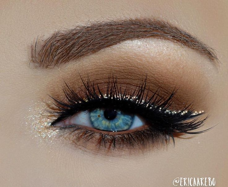 The perfect fall makeup look featuring glitter winged liner and neutral tones by...